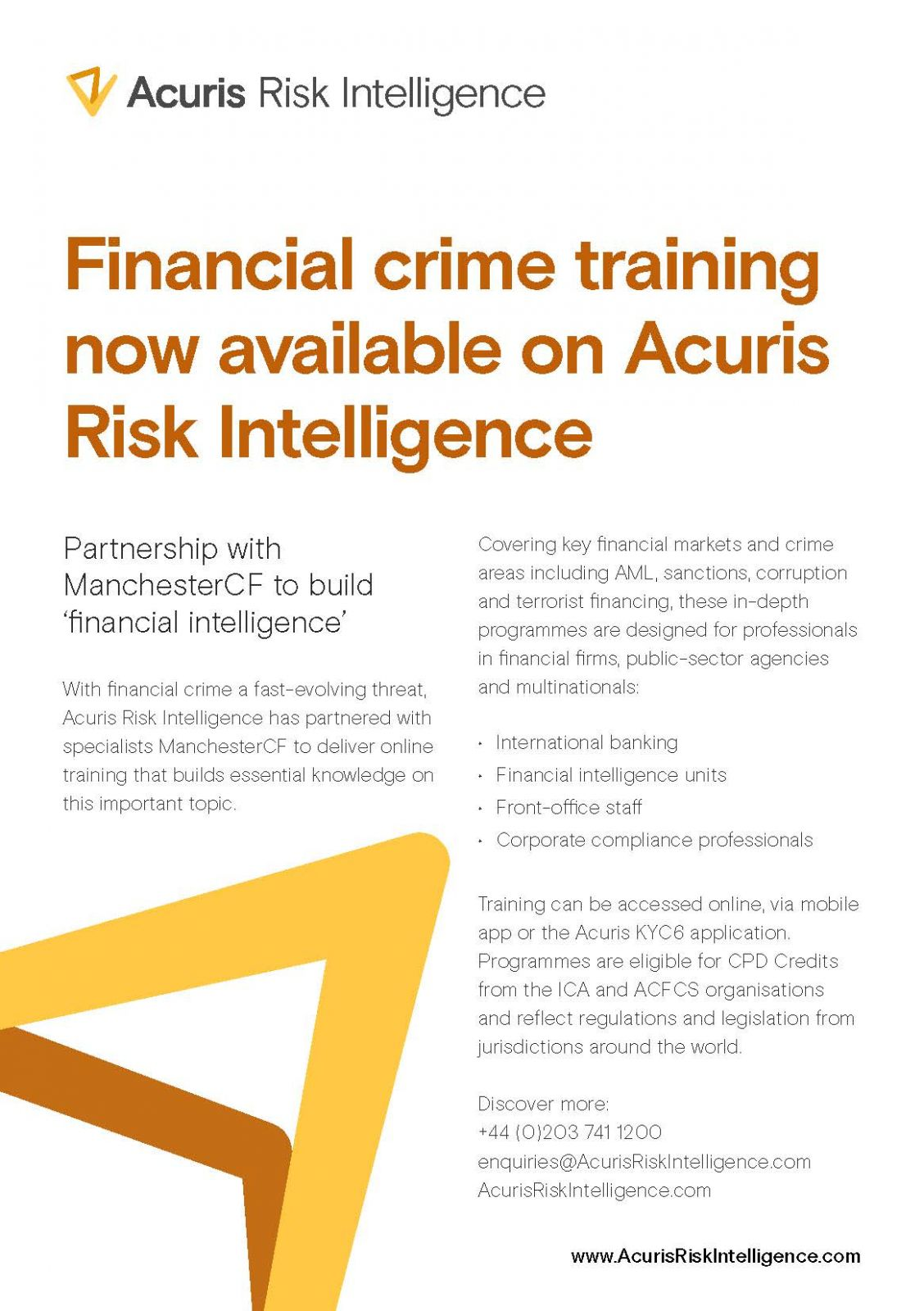 Financial crime training now available on Acuris Risk